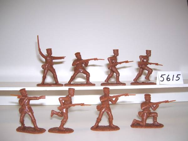 World War I Japanese Army 16 figures in 8 poses in Khaki Dress (5615) (54mm) in (Khaki)