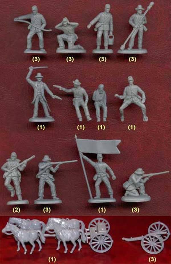 Confederate Artillery ---46 pieces (502)