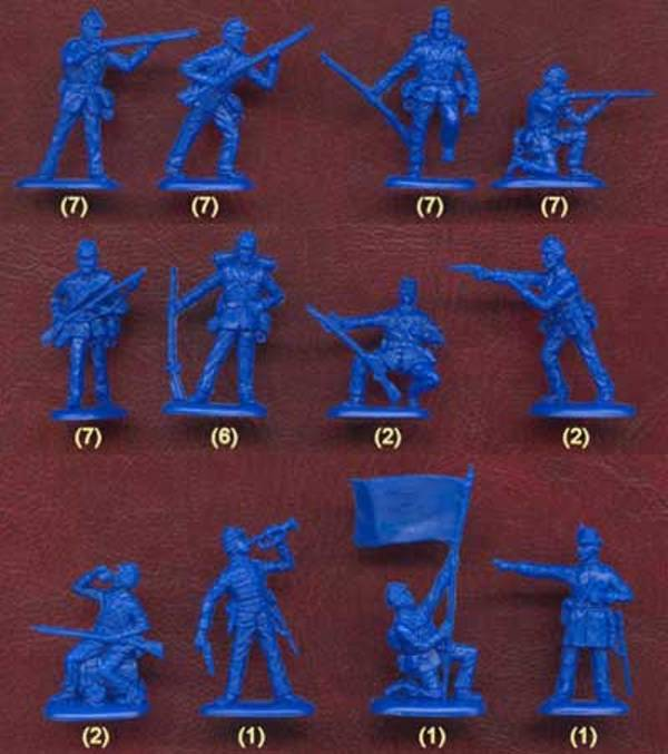 Union Infantry---50 pieces (505)