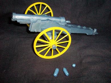 MPC original firing Civil War Union cannon with shells+shot,(60MM)