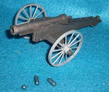 MPC original firing Civil War Confederate cannon with shells+shot,(60MM)