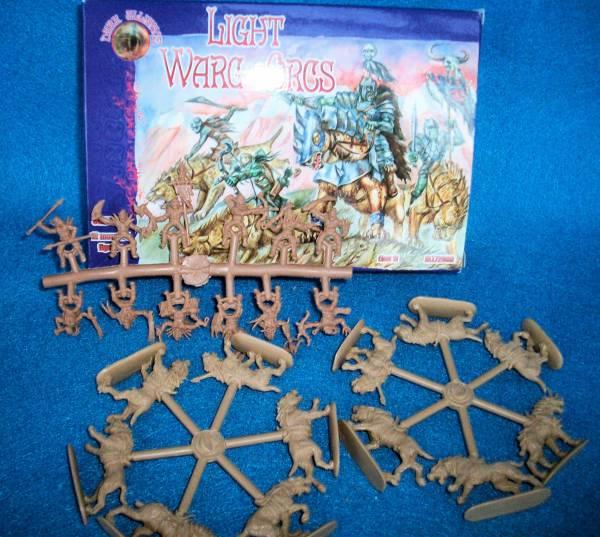 Light Warg Orcs Set 1 12 mounted figures
