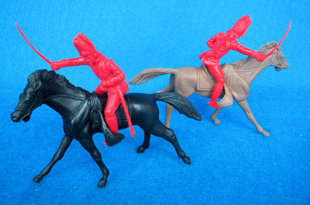 British Grenadiers Cavalry 2 figures in 1 poses (red) w/horses <font color=#CC0000>(54mm) </FONT>
