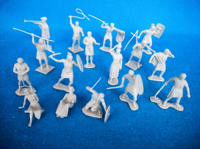 MARX BEN HUR playset figures,21 in all 16 poses,54mm, tan