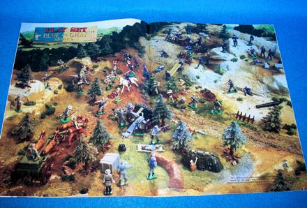 Playset Magazine #71 Marx miniature Blue+Gray + Spacemen +western towns