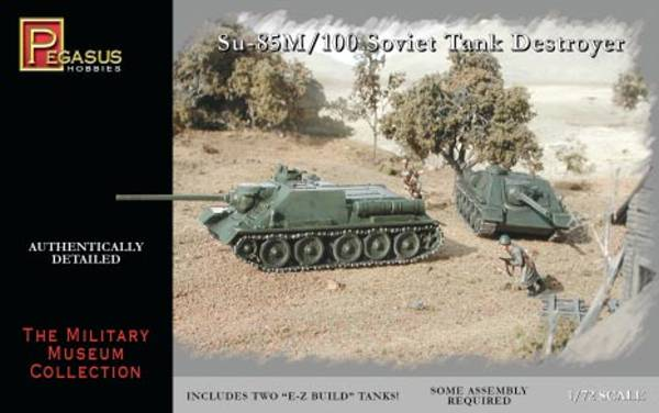 WWII Russian Soviet Su85M/100 Tank Destroyer (x2) snap together kit 1/72 scale (7663)