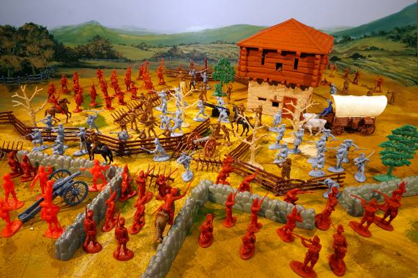 Revolutionary War Battle on the Frontier Playset 0ver 150 pieces