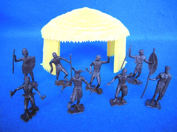 MPC African Hut and 8 Natives (60mm)