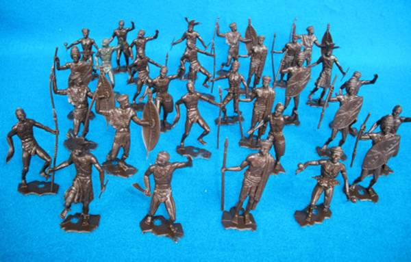 MPC107B African Natives 30 figures in 8 poses (60mm)