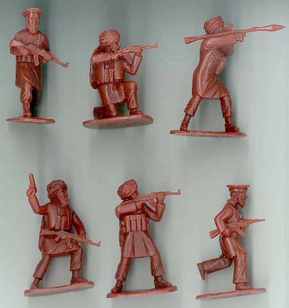 Afghan Taliban Kandahar Province 18 figures in 6 poses (5619) (rust-brown (54mm)