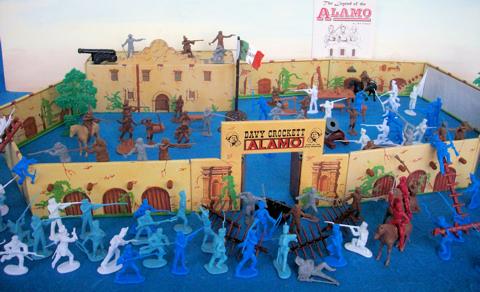 Battle of the Alamo --- 160 pieces --- (s&h $27) <FONT COLOR=#CC0000>(54mm) </FONT>