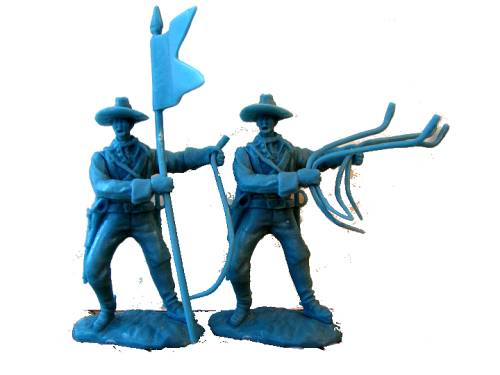 Cavalry Horse Handlers 16 figures in 8 poses  light blue (1:32 scale) (54mm)