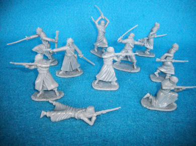 Arab Warriors 20 figures in 10 poses  (gray)  (5443) <font color=#CC0000>(54mm) </FONT>