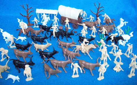 Cattle Drive Playset: 75 pieces (54mm) (s&h $15)