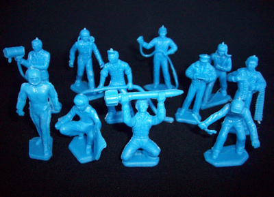 Air Force Ground Crew 22 figures in 11 poses (BLUE)   <font color=#CC0000>(45mm) </FONT>