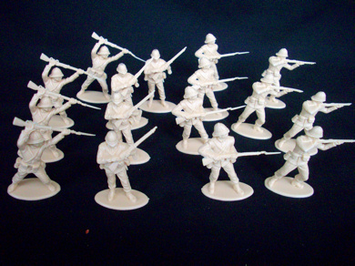 British 24th Foot at Rorke�s Drift 16 figures in 4 poses (tan) (series 7) (54mm)