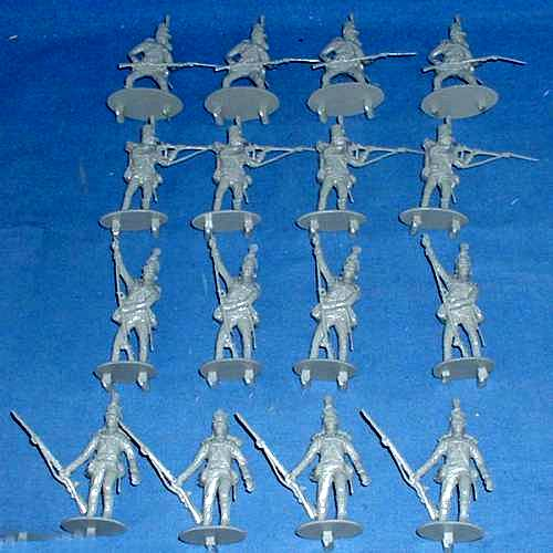 Napolenonic Wars Waterloo British 95th Rifles 16 Figures in 4 poses 54mm (1:32scale) (CTA035)