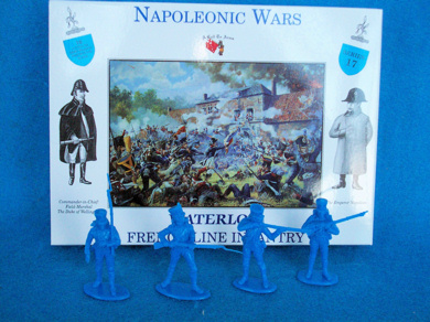 French Line Infantry 16 figures in 4 poses (blue) (series 17)  <font color=#CC0000>(54mm) </FONT>