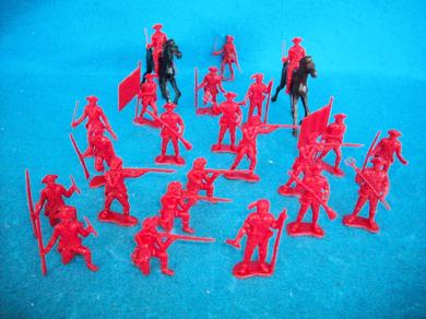 MPC revolutionary War British Infantry (45mm) (Red) 25 pieces