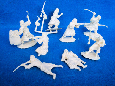 Conte Arab warriors set #2, 8 cream plastic figures,(60mm)