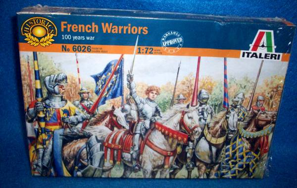 Italeri French Warriors 100 Years War 1:72 scale 28 figures (6026)