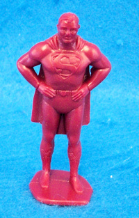 Marx Superman character figure in red (60mm)