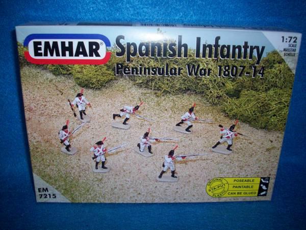 Emhar Napoleonic Spanish Infantry Peninsular War 46 figures plus 1 horse 1:72 scale (7215)