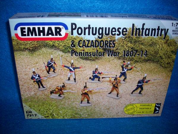 Emhar Napoleonic Portuguese Infantry Peninsular War 46 figures 1:72 scale (7217)