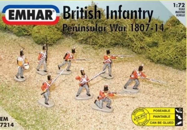 Emhar Napoleonic British Infantry Peninsular War 48 figures plus 1 horse 1:72 scale (7214)