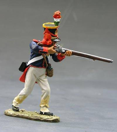 King & Country RTA009 Mexican soldier standing firing rifle 1/30,metal