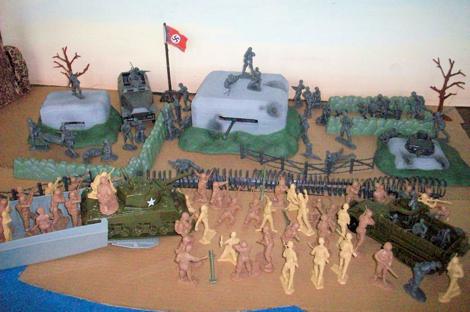 Omaha Beach Playset - 140 pieces --- (s&h $25) <FONT COLOR=#CC0000>(54mm) </FONT>