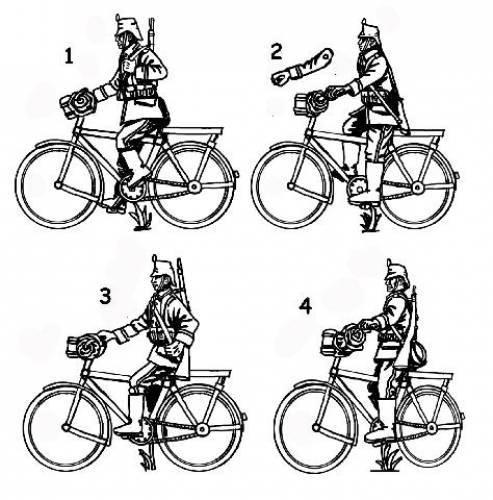 HAT WWI German Jaeger Bicyclist 1:72 scale (8276)