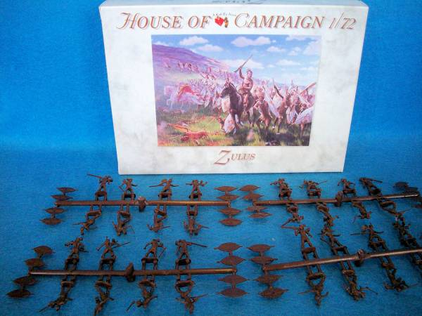 A Call To Arms British Empire Zulus 32 figures 1:72 scale (#56)