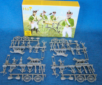HAT Napoleonic Russian Artillery #8010,25mm,56 pieces