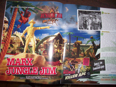 Playset Magazine # 77 Marx Jungle Jim playset + MPC +miniature +Disney Marx circus