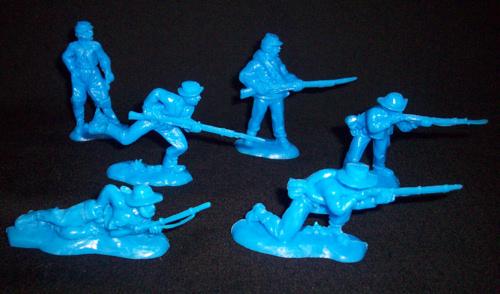 American Civil War Rebel Vets by Replicants, 54mm, blue, 12figures in 6 poses