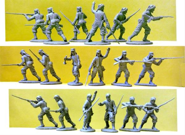 Expeditionary Force Civil War Confederate Zouaves 9 figures 1:32 scale