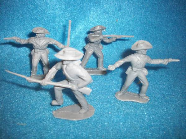 Timpo Confederate infantry, 8 figures in all 4 poses, gray (54mm)
