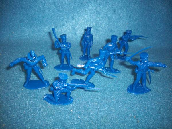 Prussian Infantry 12 figures in 8 poses (blue) <FONT COLOR=#CC0000>(54mm) </FONT>