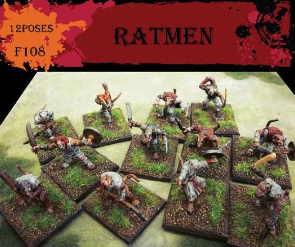 Caesar Miniature Fantasy Series:(38) Ratmen 12 poses in 1:72 scale (F108)