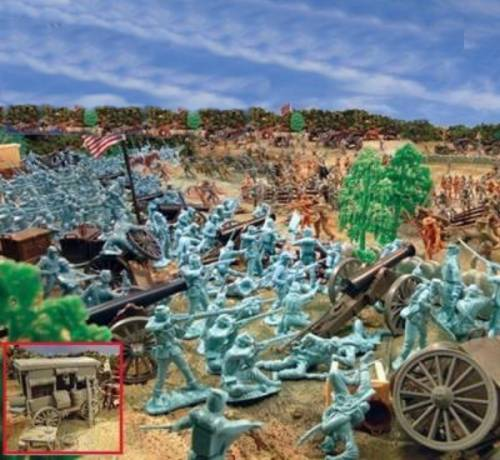 Giant Pickett's Charge Playset---540 pieces---(s&h $35.00)