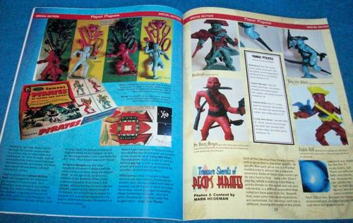 Playset Magazine issue #81-Pecos 1950's figures + Gold Marx 6