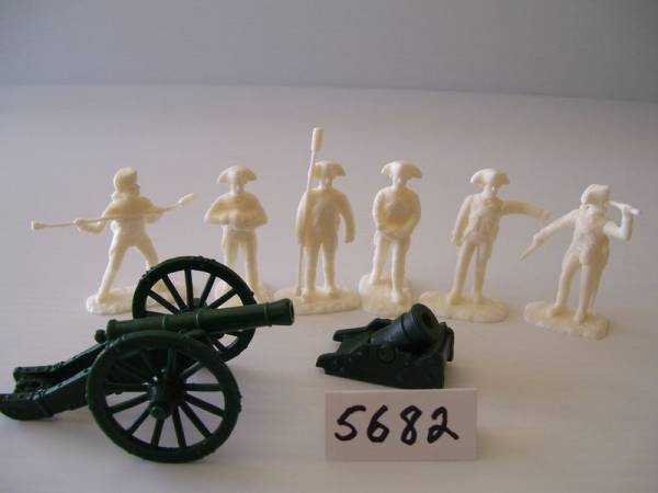 Armies In Plastic American Revolutionary War  French 6 Pounder and Land Mortar French Artillery Yorktown 1782, 54mm (5682)