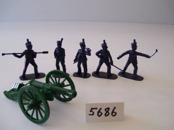 Armies in Plastic American War of 1812, American Artillery, Battle of New Orleans, French 8 pounder, 54mm (5686)