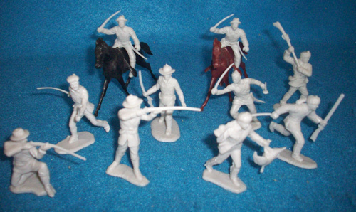 Marx original Heritage Alamo playset Texans/frontiersmen, gray (54mm)