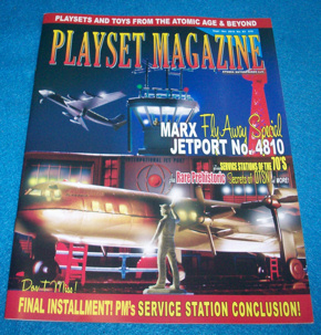 Playset magazine # 83, Marx service stations + Jetport playset
