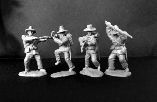 Paragon Scenics Civil War Confederates 12 figures in gray - 54mm