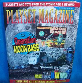 Playset Magazine #84 Marx operation Moon Base,Apolo + Martin landing