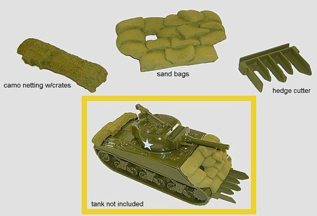 CTS Sherman Tank Accessories <FONT COLOR=#CC0000>(54mm) </FONT>