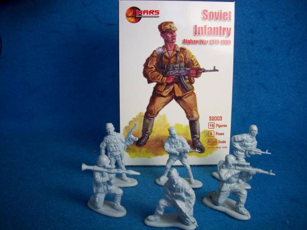Mars SOVIET Infantry Afghan War 1979-89 (54MM) 18 in 6 poses